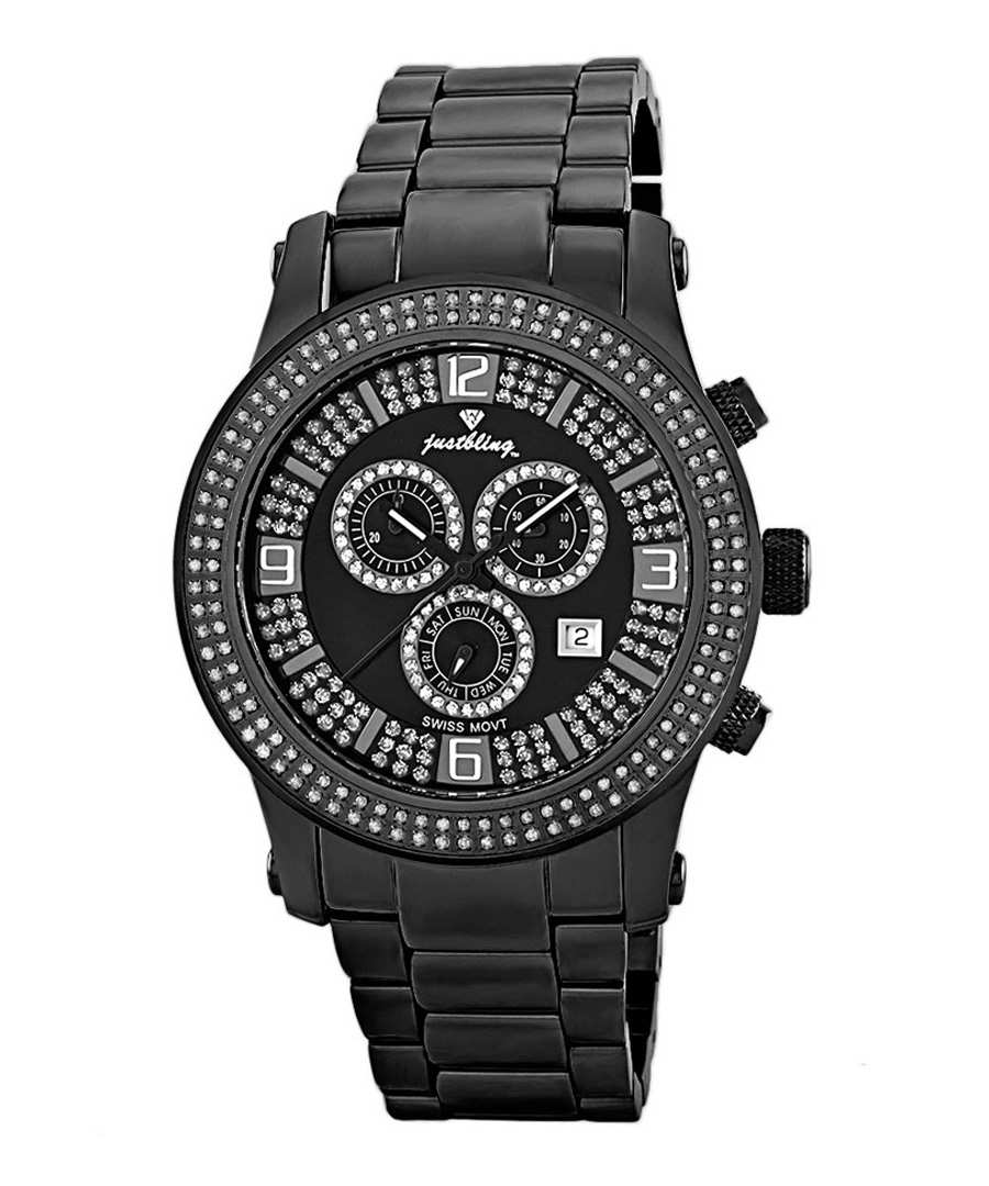 Lynx black steel diamond watch Sale - JBW