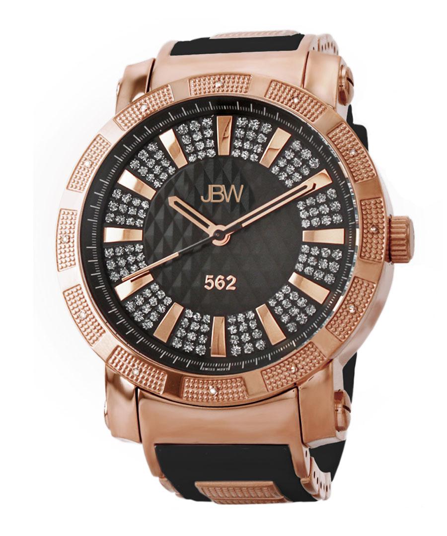 562 18k rose gold-plated diamond watch Sale - jbw