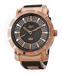 562 18k rose gold-plated diamond watch