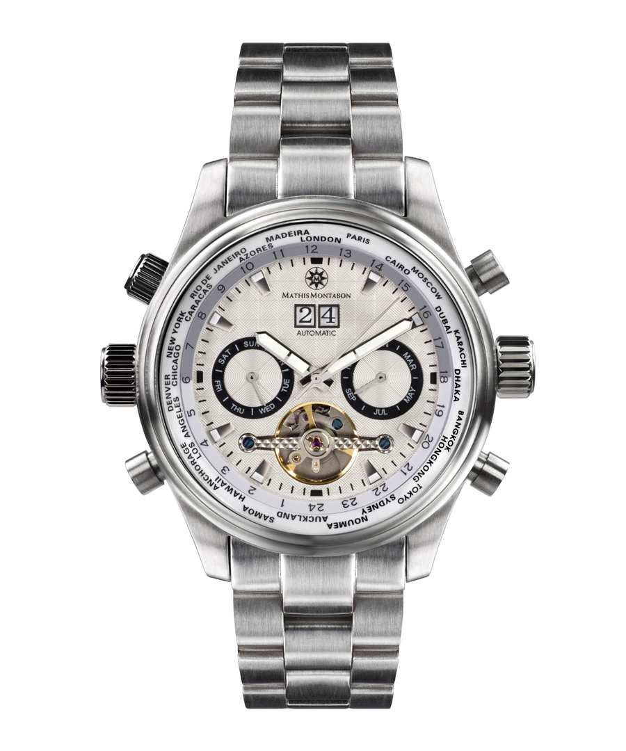 Globe Trotter stainless steel watch Sale - mathis montabon
