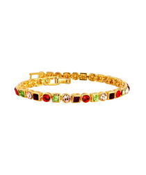 24ct gold-plated Swarovski bracelet