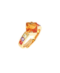 Square Swarovski Ring in Multi