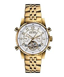 Air Professional gold-tone & white watch