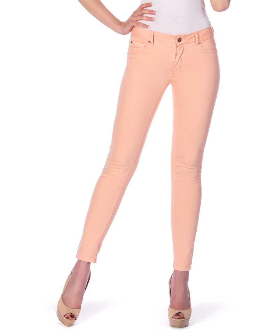 Skinny Jeans in Peach Sale - Peachy Pink