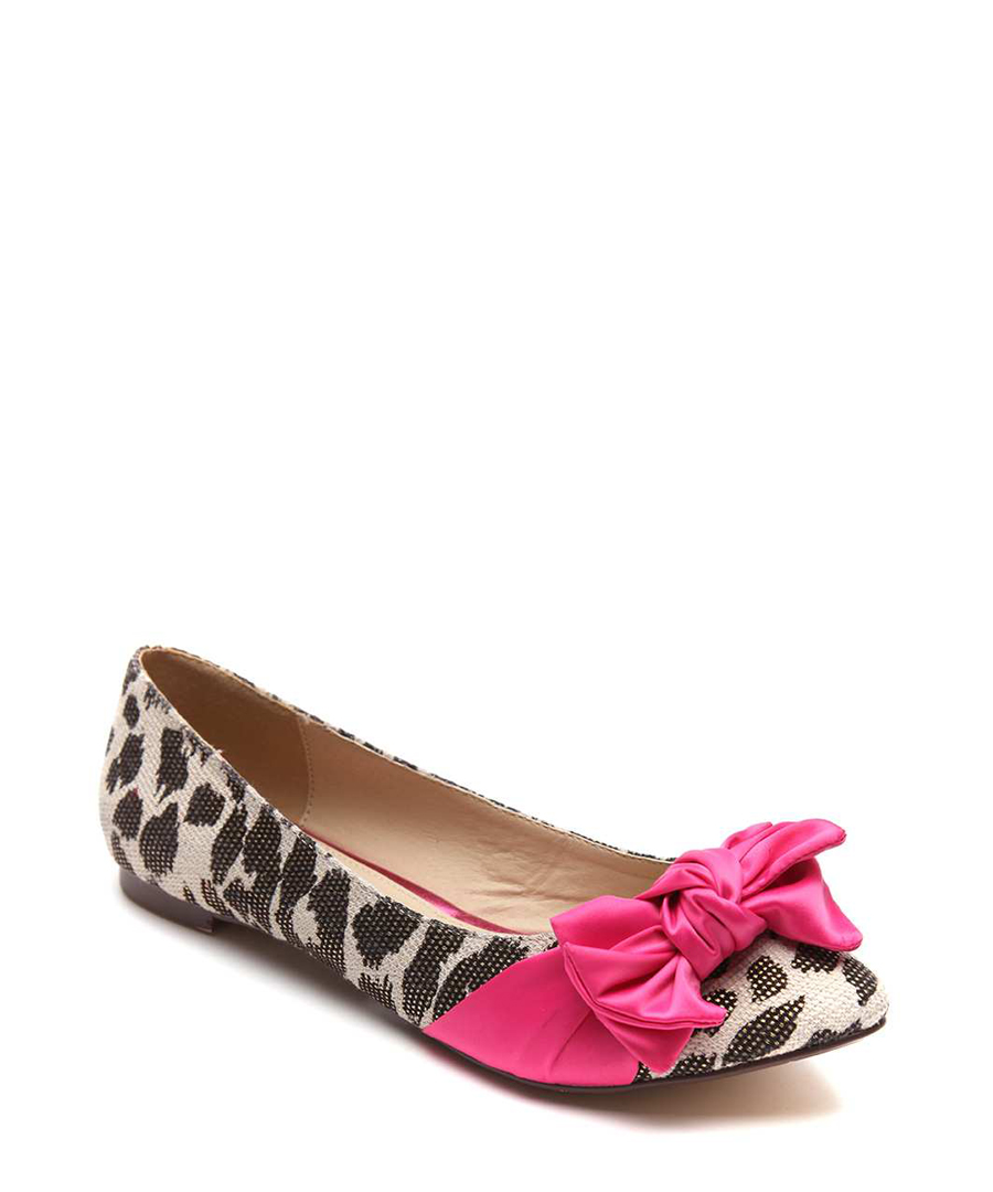 Juno ribbon trim ballet flats in black Sale - Ravel