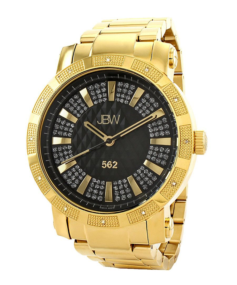 18ct gold-plated diamond watch Sale - JBW