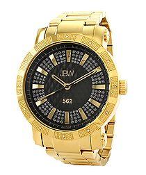 18ct gold-plated diamond watch