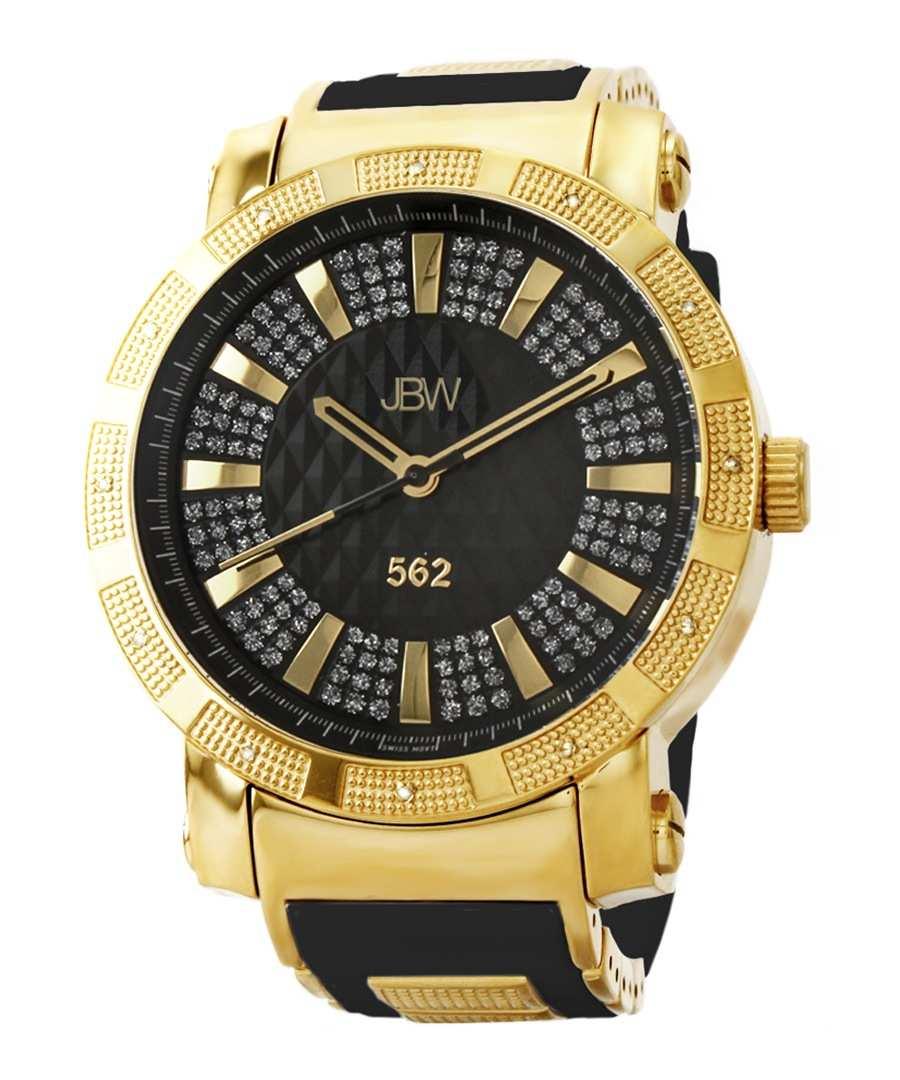 562 18k gold-plated diamond watch Sale - jbw