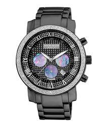 Black diamond chronograph watch