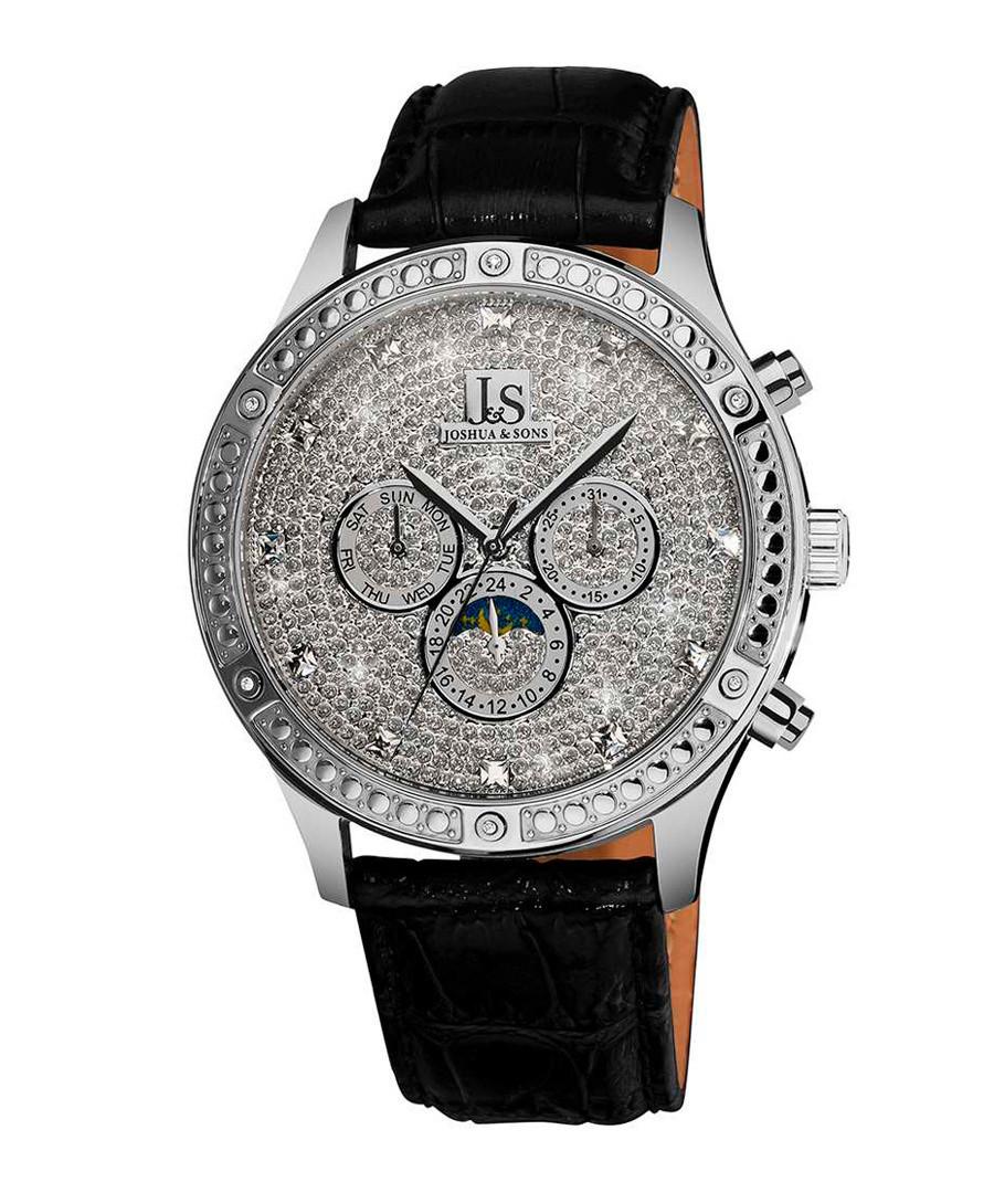 Black & silver-tone mechanical watch Sale - joshua & sons