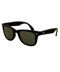 Folding Wayfarer black sunglasses