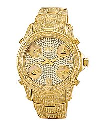 Jet Setter 18k gold-plated diamond watch
