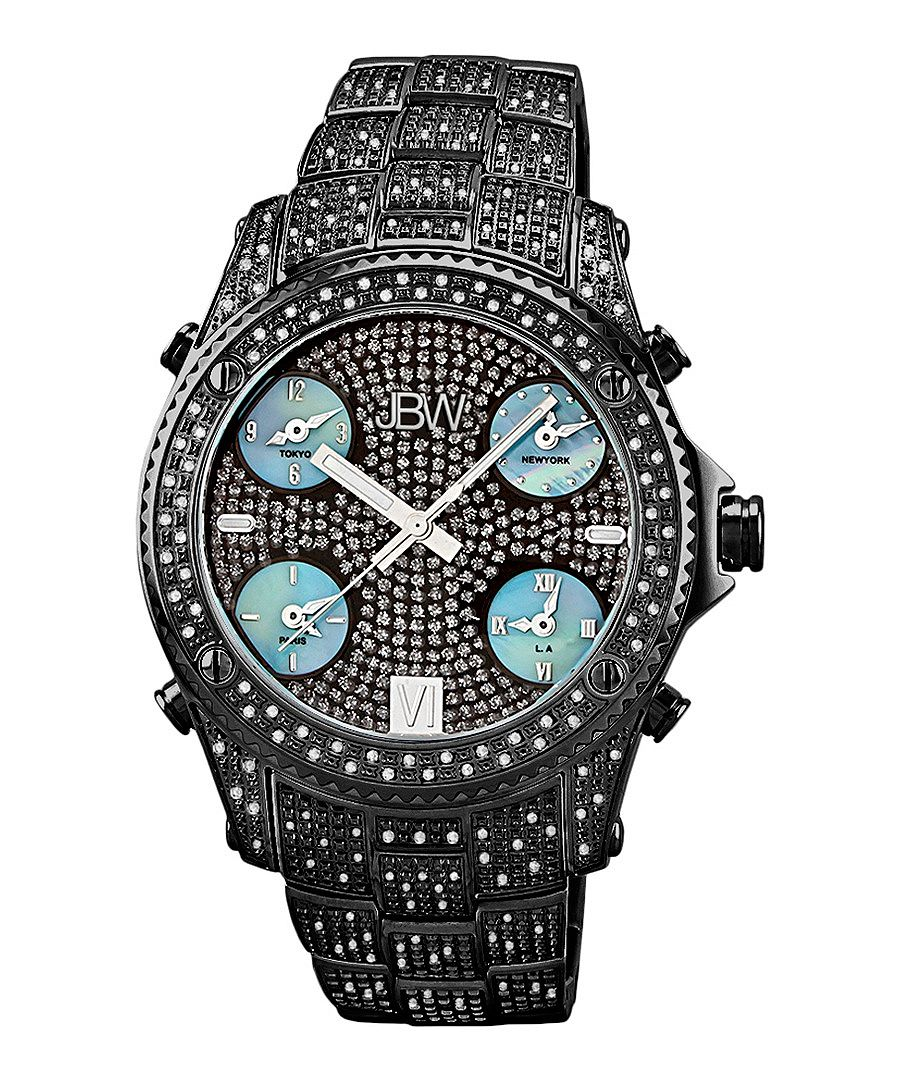 Jet Setter ion-plated diamond watch Sale - jbw