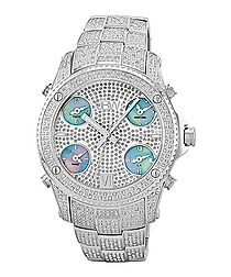 Jet Setter silver-tone diamond watch
