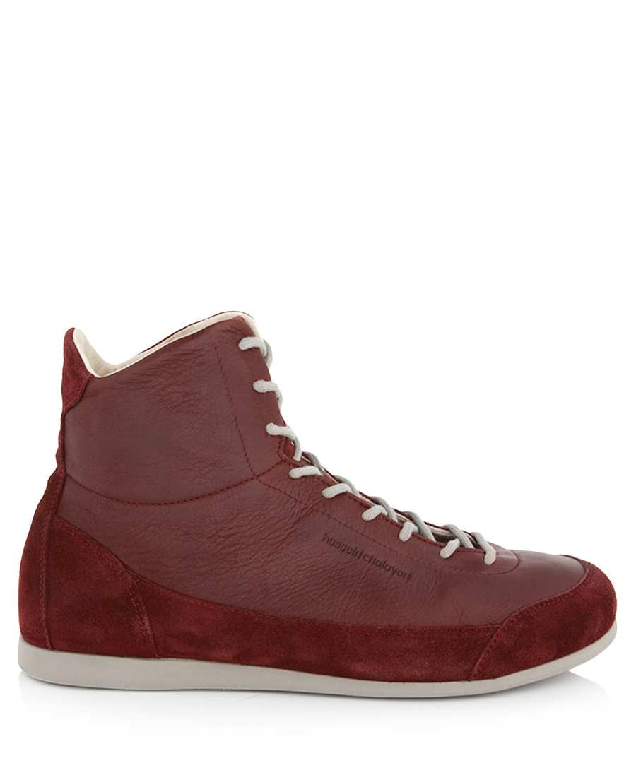 Allvar red leather trainers Sale - PUMA X Hussein Chalayan
