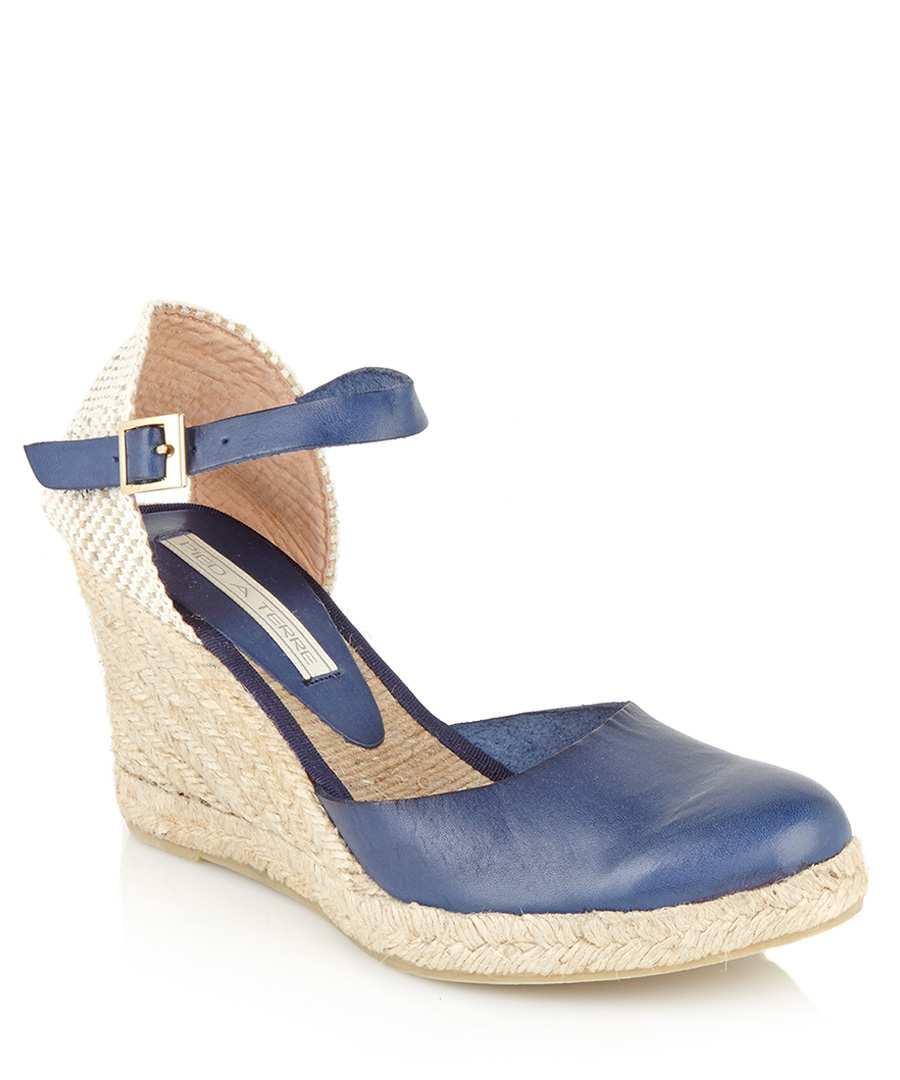 686e3abaa58 Discount Iris navy leather espadrilles | SECRETSALES