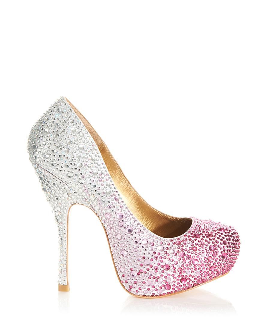 benjamin adams rio fuchsia and silver high heels designer footwear sale outlet at. Black Bedroom Furniture Sets. Home Design Ideas