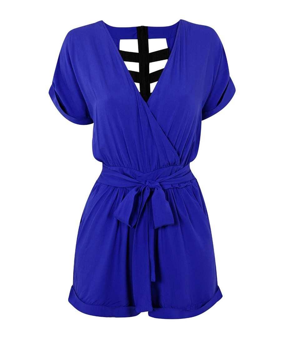Blue cut-out jumpsuit Sale - House of Deréon