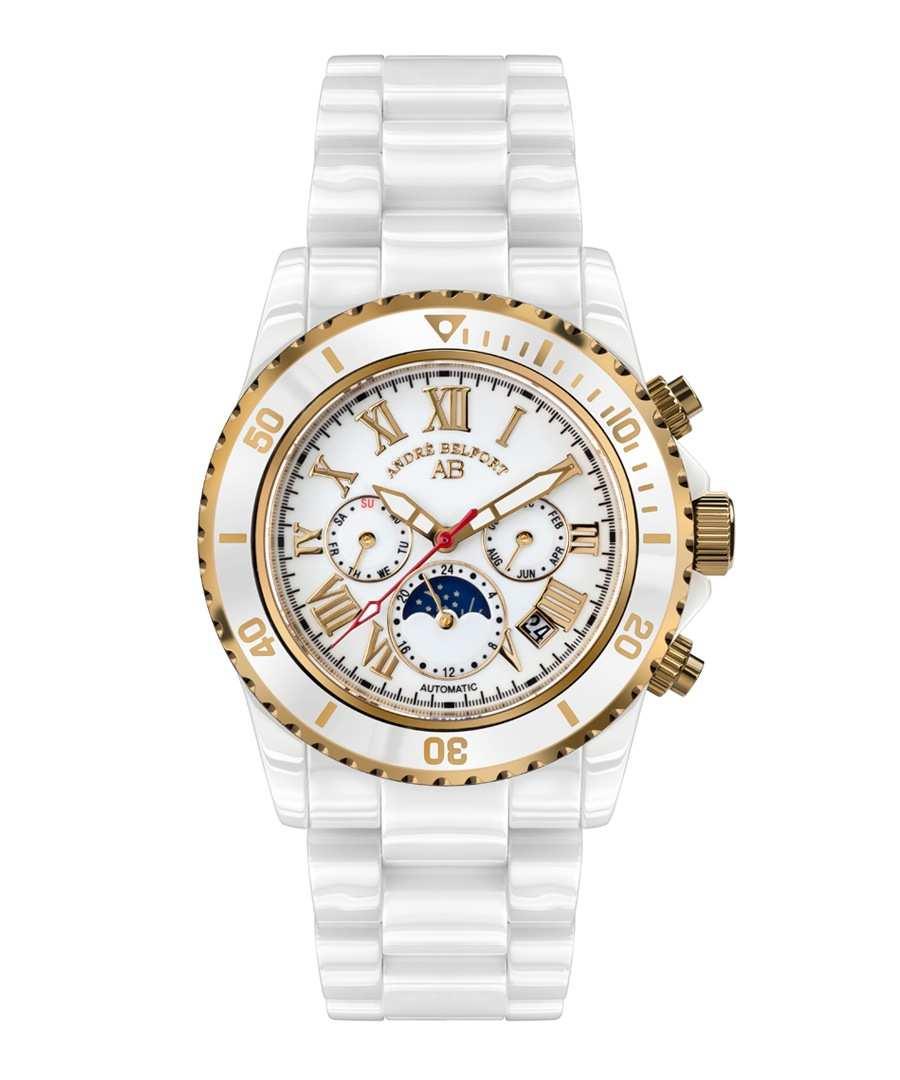 Sirene white & gold-tone steel watch Sale - andre belfort