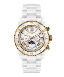 Sirene white & gold-tone steel watch