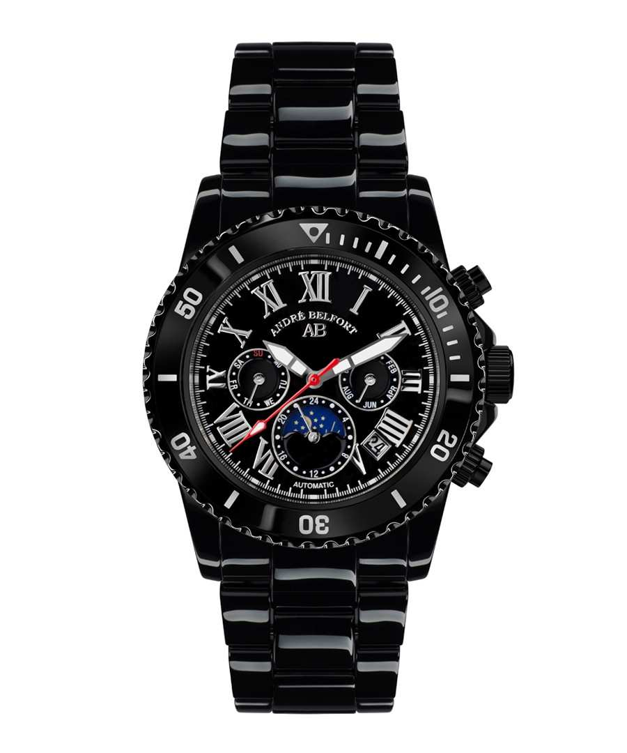 Sirene black stainless steel watch Sale - andre belfort