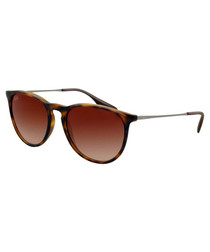 Erika Havana rubberised sunglasses