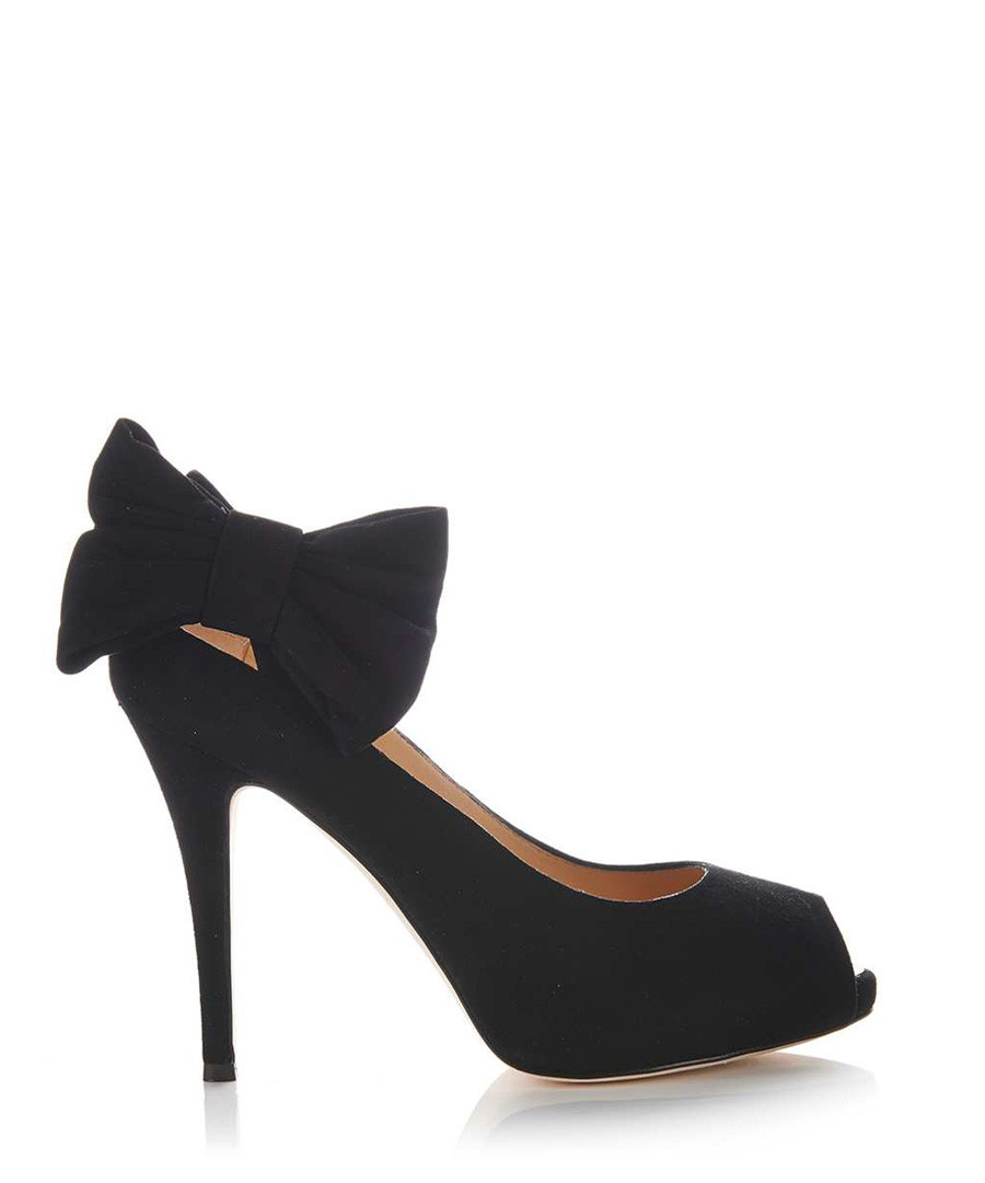 Black leather bow peep toe heels Sale - GIUSEPPE ZANOTTI