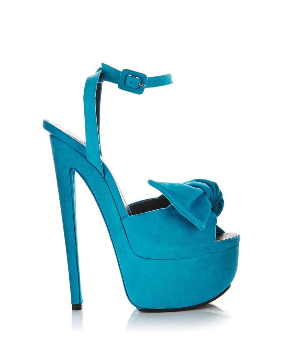 Aqua suede platform heels Sale - GIUSEPPE ZANOTTI