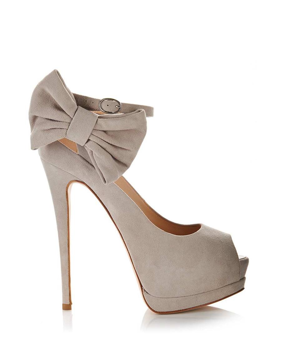 Beige suede bow heels Sale - Giuseppe Zanotti