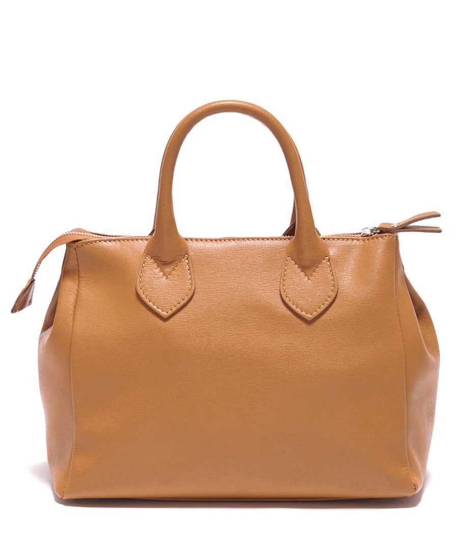 Cognac leather classic grab bag Sale - Carla Ferreri