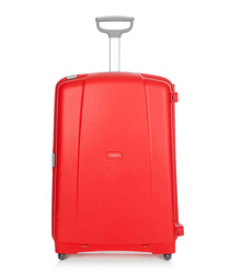 Aeris red spinner suitcase 82cm