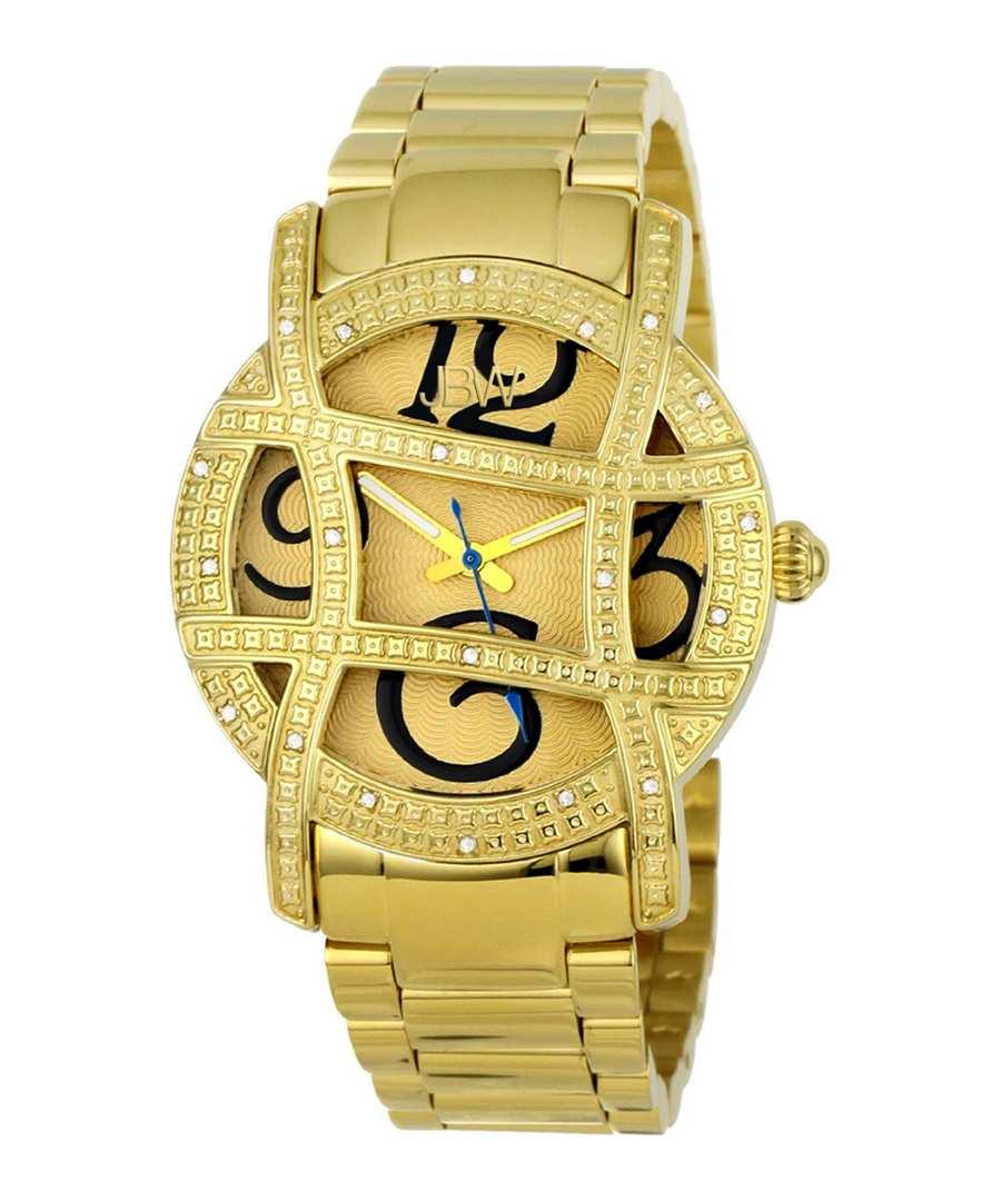 Olympia 18k gold-plated diamond watch Sale - jbw