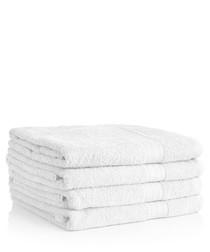 Image of 4pc white Egyptian cotton bath sheets