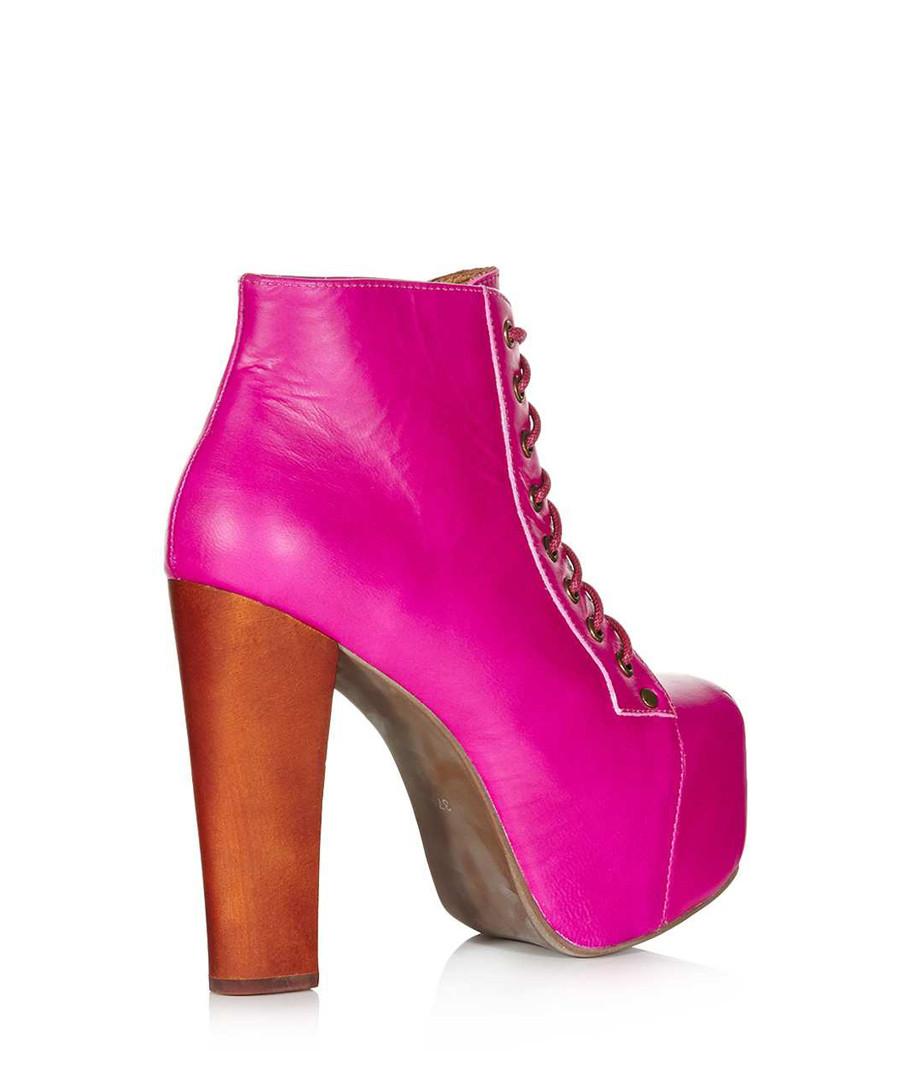 discount lita pink leather ankle boots secretsales