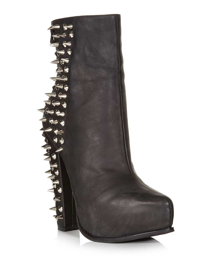 jeffrey campbell avalos black leather boots designer footwear sale jeffrey campbell at. Black Bedroom Furniture Sets. Home Design Ideas