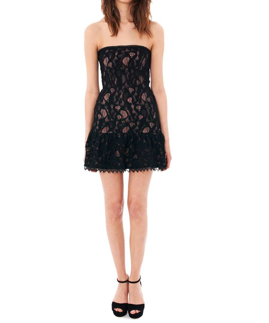 c27d1cd3484 Black strapless lace dress Sale - The Kooples ...