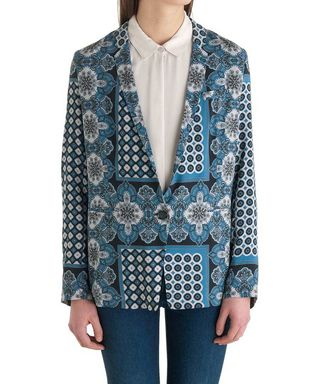 Blue printed blazer