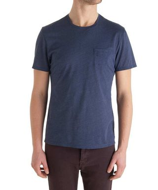 Washed blue cotton Tshirt