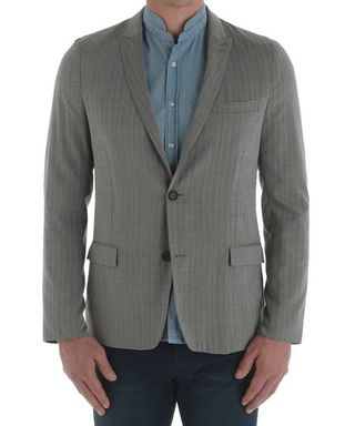 Grey pure wool blazer