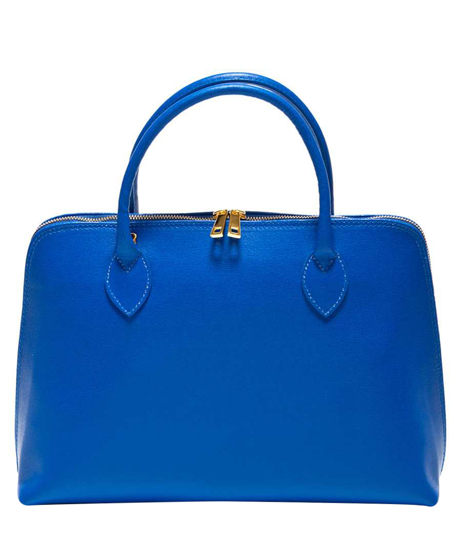 Blue leather zip-around handbag Sale - Renata Corsi