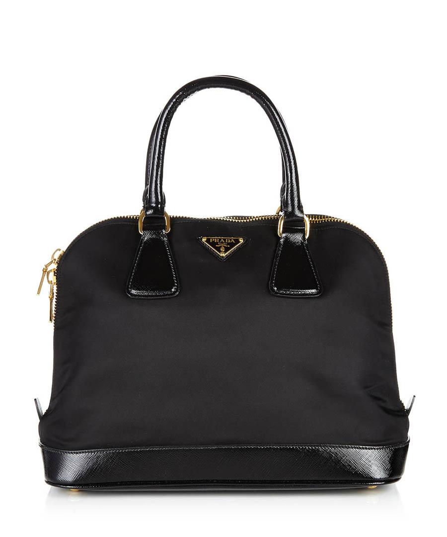 Black leather trim grab bag Sale - Prada