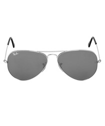 Aviator silver mirrored sunglasses