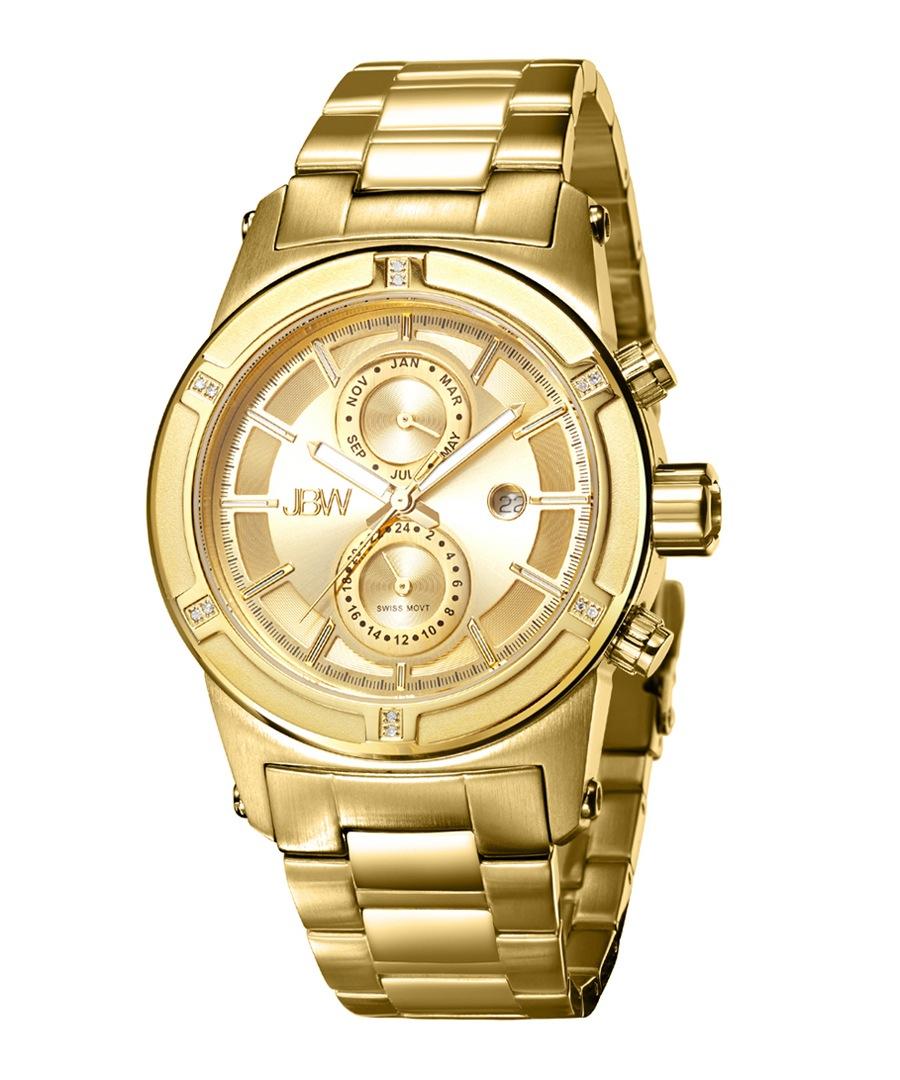 Strider 18ct gold-plated & diamond watch Sale - jbw