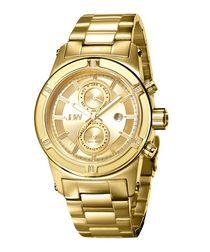 Strider 18ct gold-plated & diamond watch