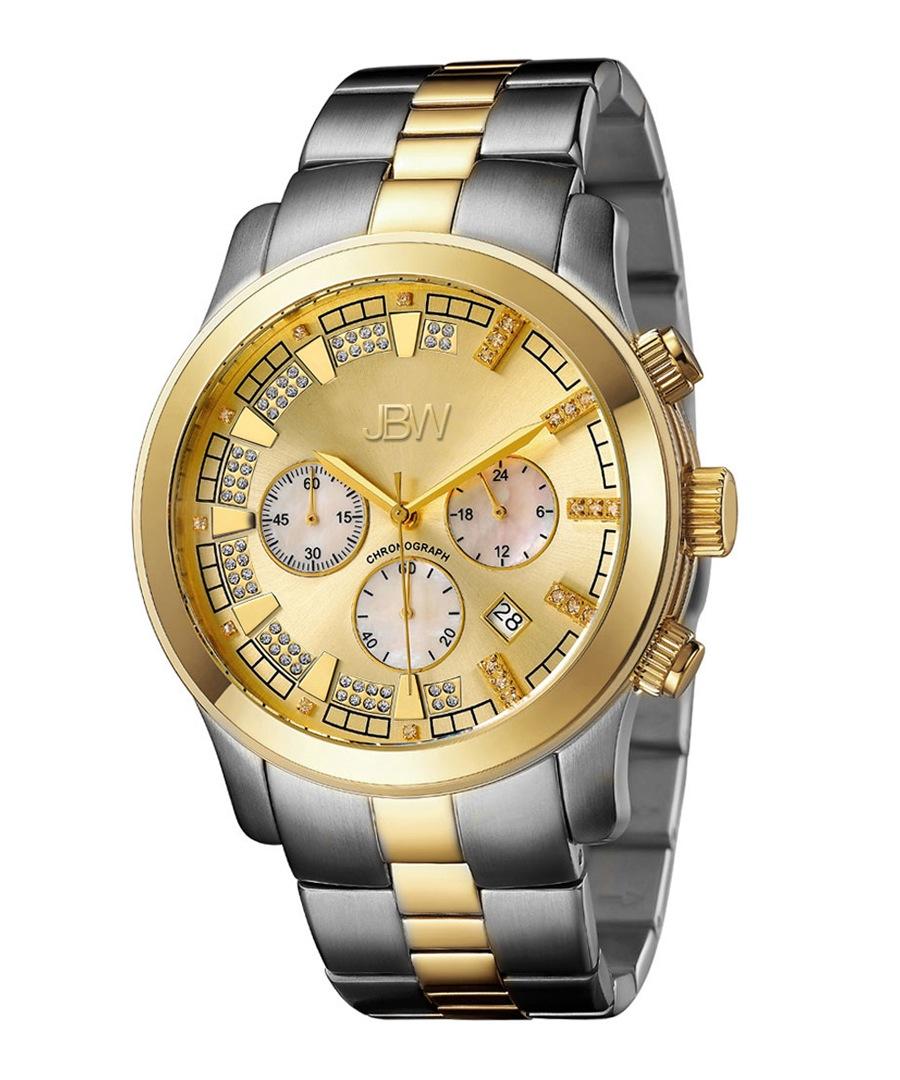 Delano two-tone steel & diamond watch Sale - jbw