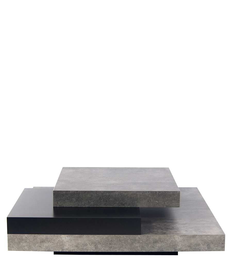 Slate pure black coffee table Sale - temahome