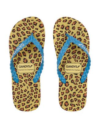 2aaf8ba4a3597 Women s Blue   leopard flip-flops Sale - Gandys Sale