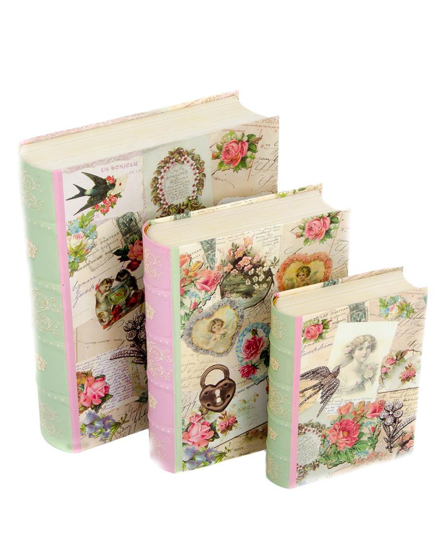 Three vintage postcards boxes Sale - Tri-Coastal Design