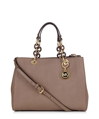4b6a0e58b5 Cynthia taupe leather shoulder bag Sale - Michael Kors Sale