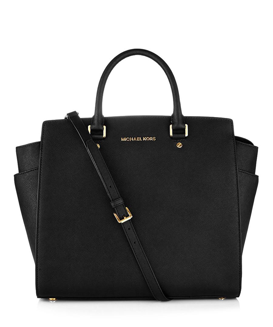 Selma large black leather tote bag Sale - Michael Kors